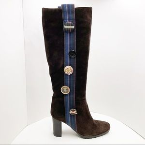 🆕 {KENZO} OOAk Funky Buttons & Suede Tall Boots